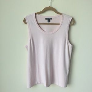 Soft pink sleeveless sweater